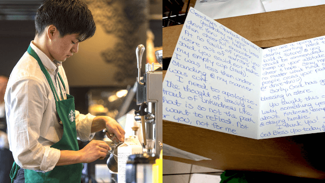Customer who was rude to a Starbucks barista redeems herself in viral letter.