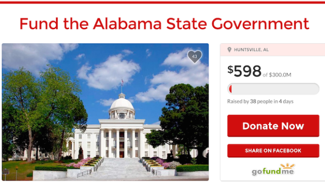 A state senator made a GoFundMe for Alabama's budget issues to prove some point we don't understand.