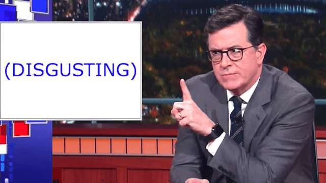 Stephen Colbert dissects #pizzagate and slams conspiracy theorists who think he works for Clinton.