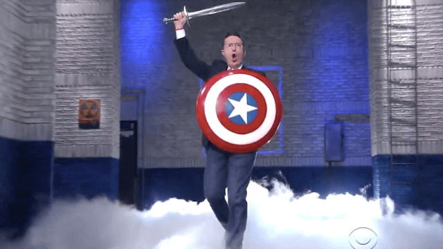 Stephen Colbert revived his alter ego to slam Trump's 'cruel' budget.