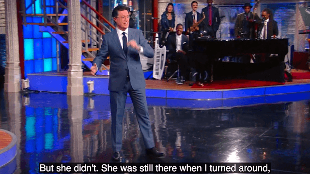 An audience member asked Stephen Colbert how he knew his wife was 'the one.' You'll be glad they did.