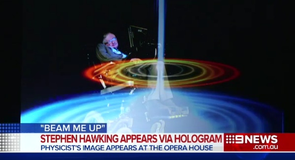 Stephen Hawking, in his infinite wisdom, appeared via hologram and mentioned One Direction.