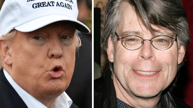Stephen King finally takes revenge on Donald Trump for blocking him on Twitter.