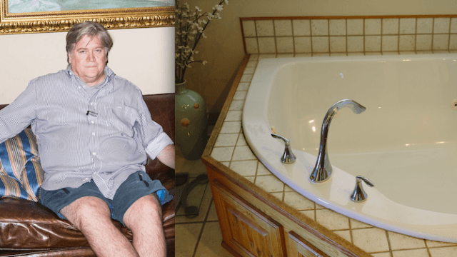Steve Bannon allegedly destroyed his rental home's Jacuzzi with acid, and people have questions.