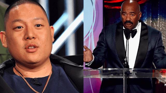 Steve Harvey apologizes for calling all Asian men ugly.