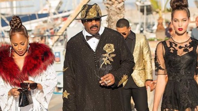 Steve Harvey and his family set the internet on fire with their over-the-top outfits.