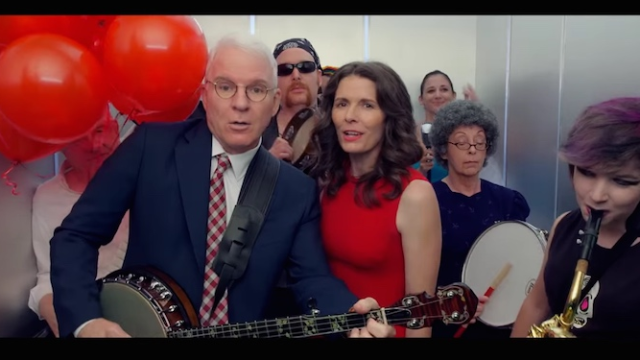 Steve Martin would like to remind you once more that he is a very good banjo player.