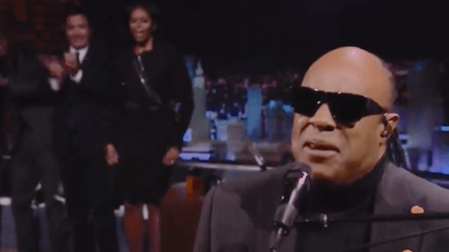Stevie Wonder serenaded Michelle Obama on 'The Tonight Show' and it was as wonderful as you'd expect.