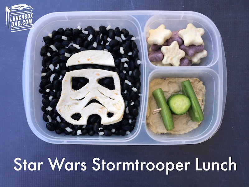 The cucumber TIE Fighter landed on planet hummus.
