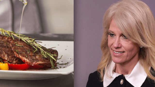 People love this story about Kellyanne Conway being the weirdest human ever in a fancy restaurant.