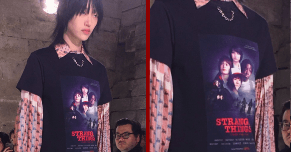 'Stranger Things' somehow ended up on a Paris Fashion Week runway, and Twitter is going nerd crazy.