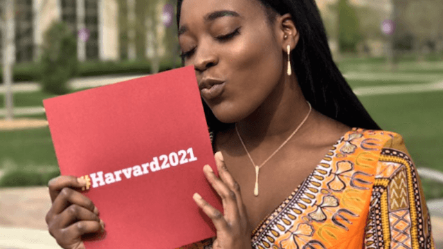 Strong, smart, single woman takes Harvard acceptance letter as her date to prom.