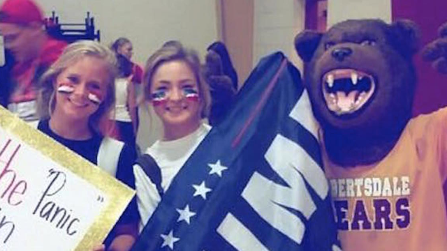 Student defends blatantly racist homecoming sign by insisting it isn't racist. It is.