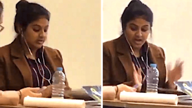 You will relate HARD to this girl who is 'done' studying after half a second.