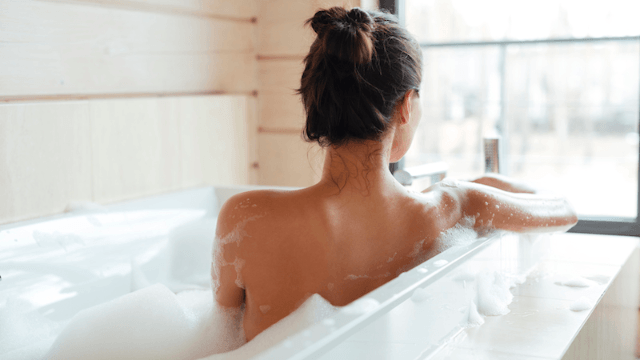 Study reveals that taking a hot bath can burn as many calories as a long walk.