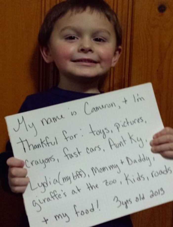 11 extremely honest Thanksgiving notes from kids.