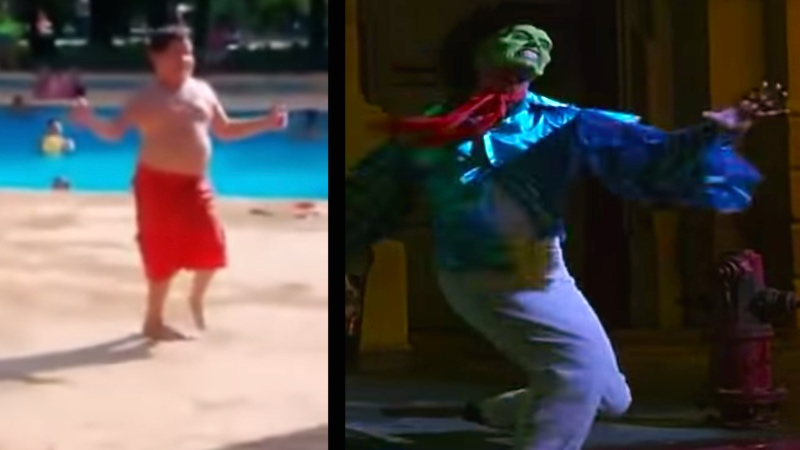 """Summer 2015 has its mascot: this kid doing an impromptu poolside """"Cuban Pete"""" dance routine."""