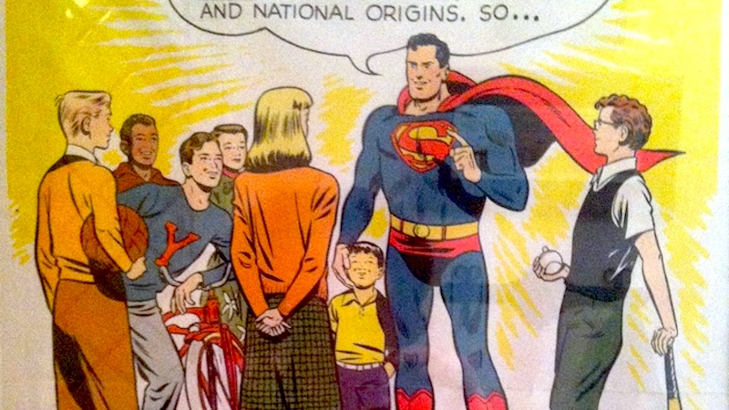 This 1949 Superman poster about patriotism is going viral because it's more relevant than ever.