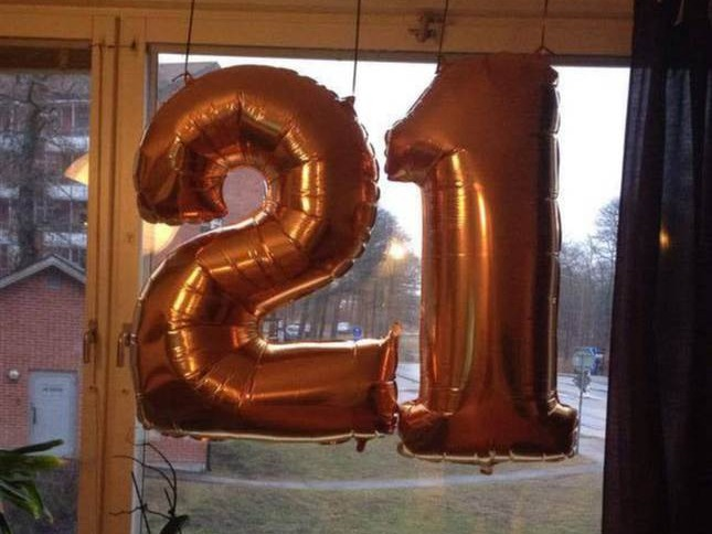 Swedish police confuse 21st birthday party balloons with a message from ISIS.