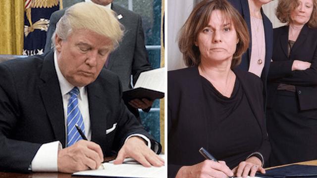 Swedish politician throws major feminist shade at Trump with staff photo.