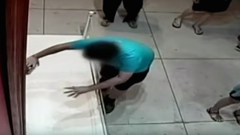 Taiwanese boy successfully brushes off accidentally punching a hole in a $1.5 million painting.