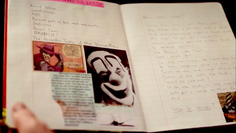 """Take a look at Heath Ledger's """"Joker diary,"""" and feel sadness and terror at the same time."""