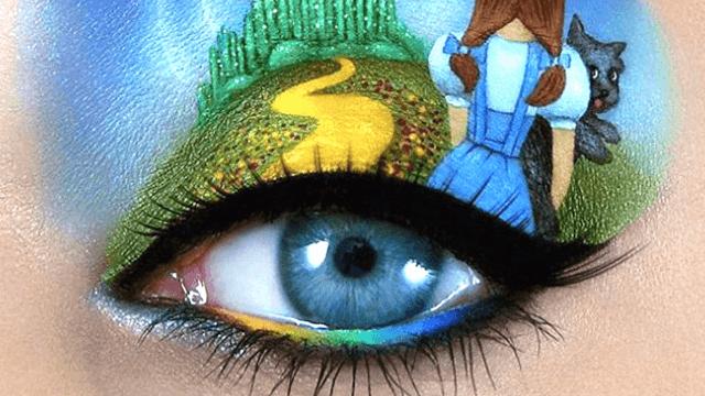 Israeli makeup artist Tal Peleg paints mini masterpieces on her eyelids. They're almost too good.