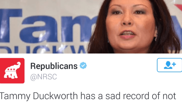 The RNC issued a truly cringe-worthy tweet about veteran and congresswoman Tammy Duckworth.