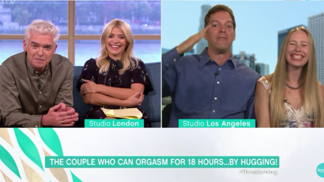 Watch this tantric sex couple crack up morning TV hosts and try not to laugh.