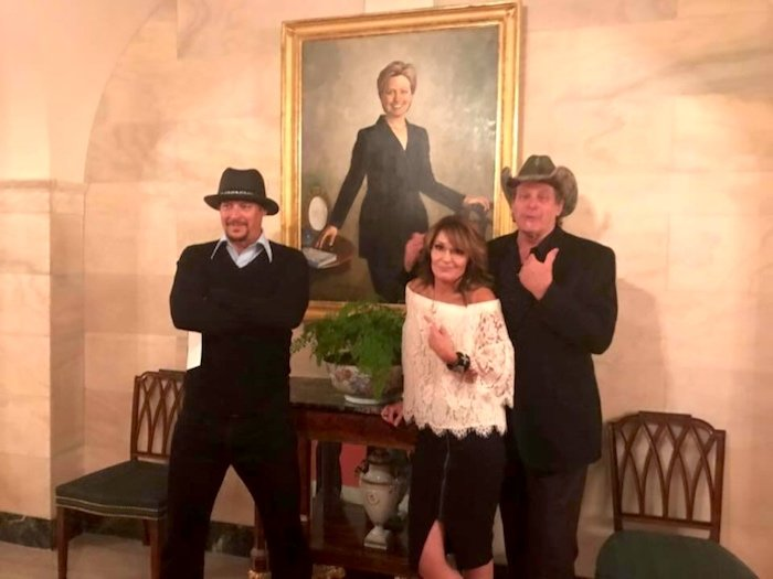 "Nugent's posing as if to say, ""Remember when I called for her to be killed? What a rascal I am!"""