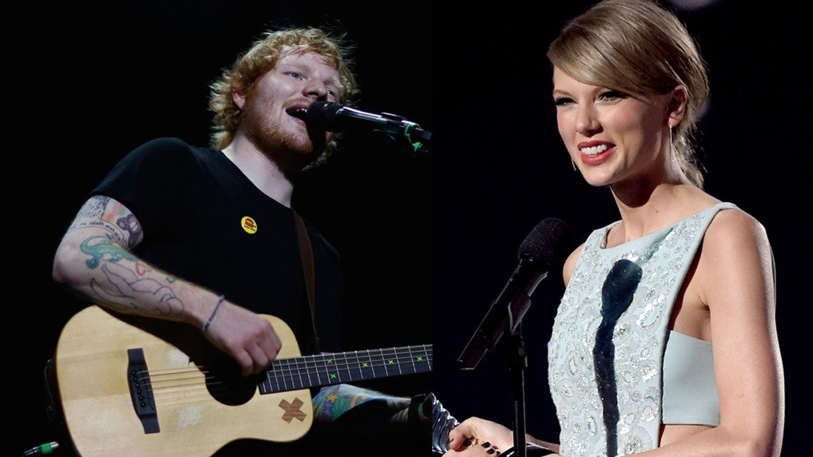 Taylor Swift tells the world that she and Ed Sheeran tuck each other in at night via text.