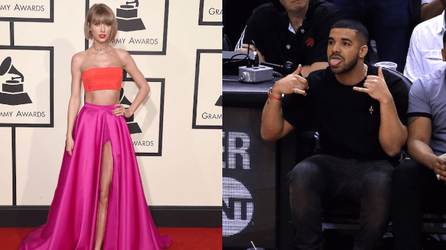 Drake is helping Taylor Swift with her music but that doesn't mean they're not dating.