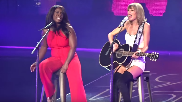 Taylor Swift sang duets with Uzo Aduba and Mary J. Blige this weekend to force you to feel things.