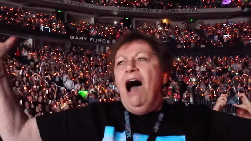 This 72-year-old grandma became a 13-year-old girl when Taylor Swift brought out Mick Jagger.