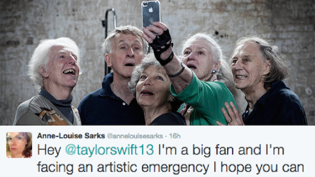 """Taylor Swift personally gave a cast of senior citizens permission to dance to """"Shake It Off"""" in a play."""