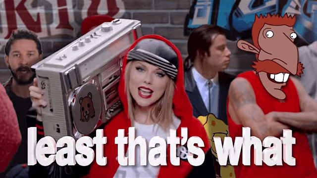 The internet's best gif-makers took turns editing Taylor Swift's 'Shake It Off' into a weird masterpiece.
