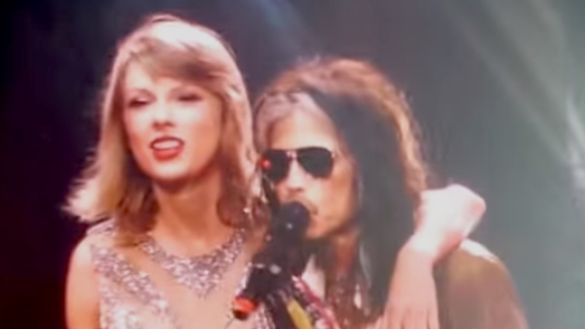 Taylor Swift and Steven Tyler just performed the biggest hit of 1997 on her '1989' world tour.
