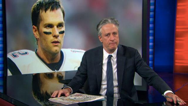 Jon Stewart takes Tom Brady to task... for seven minutes.