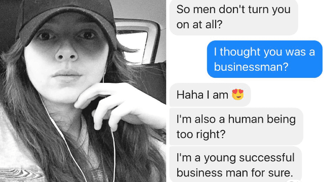 Young tech entrepreneur asks for business advice, gets pervy messages instead.