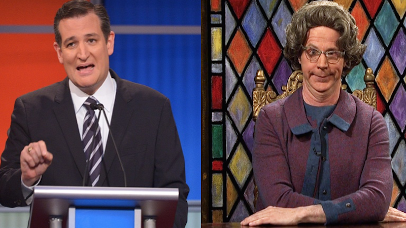Isn't that special: Definitive proof that Ted Cruz is Church Lady from 'SNL.'