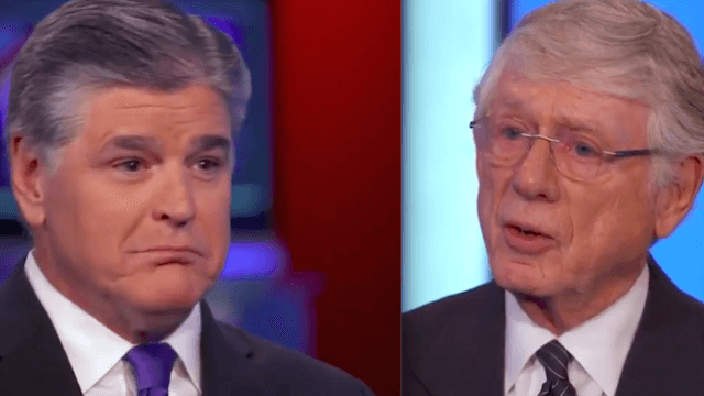 Watch legendary anchor Ted Koppel tell Sean Hannity, right to his face, that he's bad for America.
