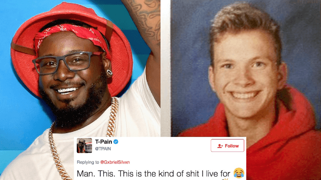 Teen asks T-Pain for a yearbook quote and the rapper goes above and beyond.