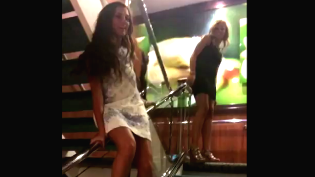 Teen girl somehow survives insane fall off a cruise ship railing, and it's all caught on Snapchat.