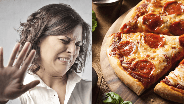 Teen's horrifying video of something wriggling out of her pizza is your worst nightmare.