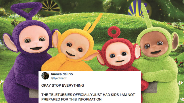 The Teletubbies procreated and people can't handle it.