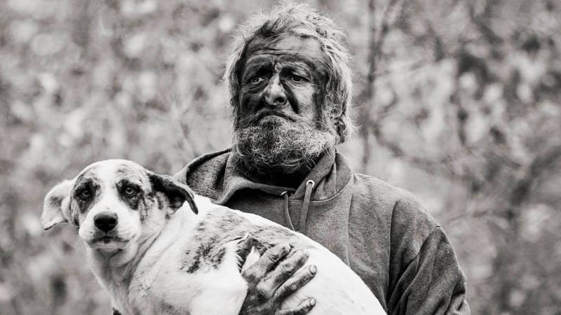 A homeless man who lived in the woods for 16 years had one condition for coming out.