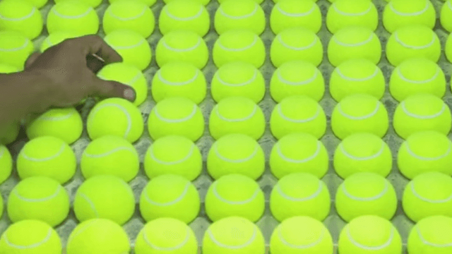 Enjoy a magically satisfying video about how tennis balls get made.