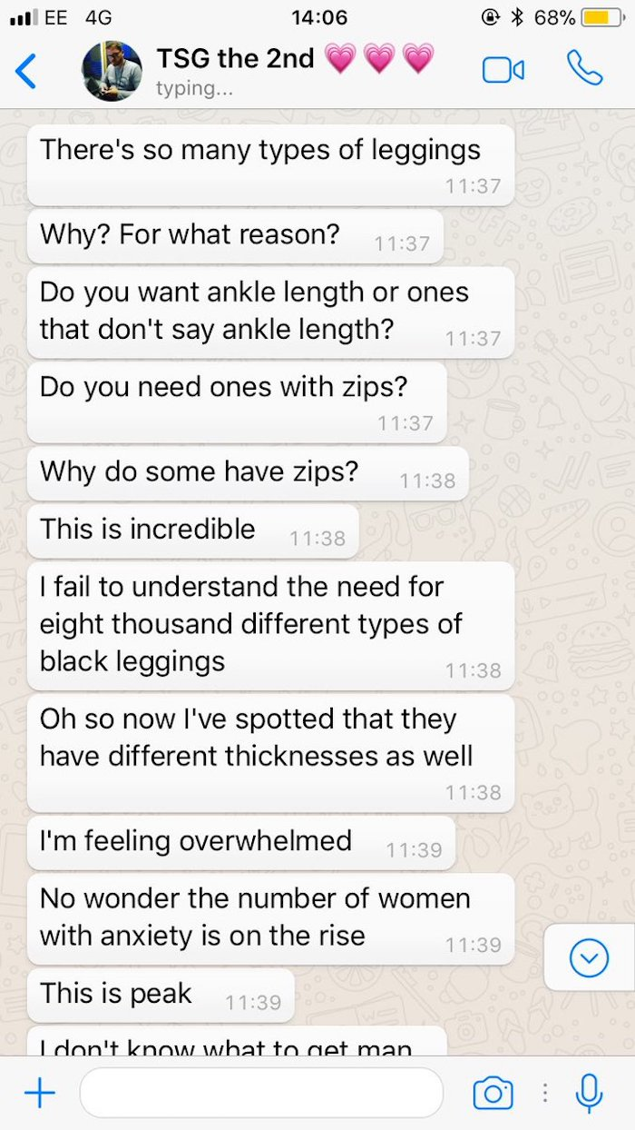 Guy's hilarious meltdown over being asked to buy his girlfriend leggings goes viral.