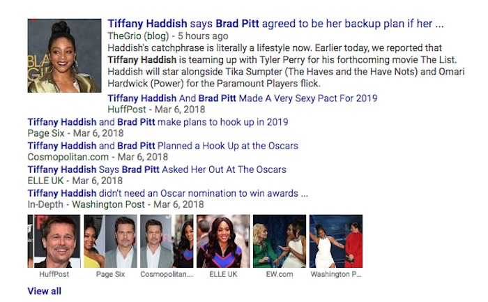 Tiffany Haddish responds to her viral Brad Pitt story by listing the downsides of dating him.