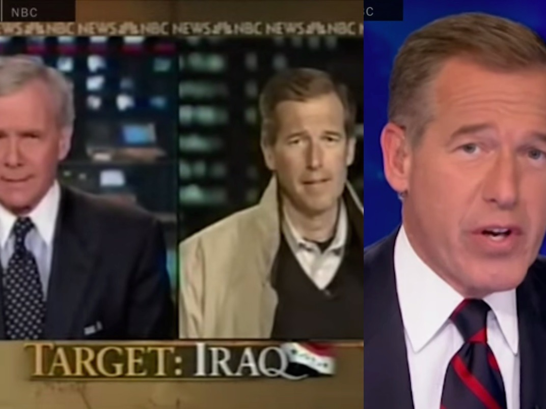 The Assassination of Brian Williams by the Coward Brian Williams: a montage of his slow-building lie.